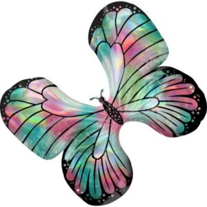 Hologrammos Butterfly, Pillangó fólia lufi 76 cm