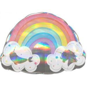 Holographic Rainbow, Szivárvány fólia lufi 71 cm