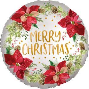 Merry Christmas, Boldog Karácsonyt Fólia lufi 45 cm