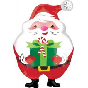 Santa Claus, Télapó fólia lufi 50 cm