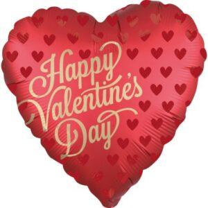 Happy Valentine's Day Fólia lufi 45 cm