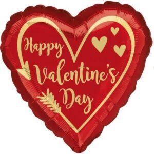Happy Valentine's Day Fólia lufi 43 cm