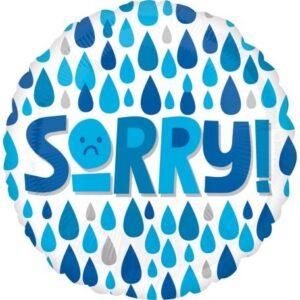 Sorry, Sajnálom Fólia lufi 43 cm