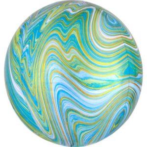 Colorful, Green gömb fólia lufi 40 cm