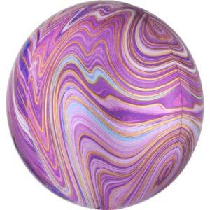 Colorful, Purple gömb fólia lufi 40 cm