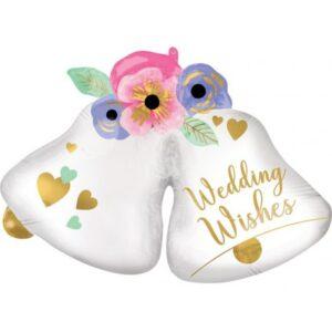 Esküvő fólia lufi 83 cm