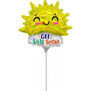 Get Well Happy Sun mini fólia lufi