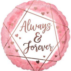 Always & Forever fólia lufi 43 cm