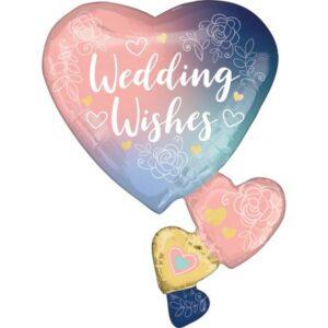 Wedding, Esküvő fólia lufi 76 cm