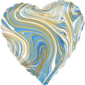 Blue Heart, Kék Szív Fólia lufi 43 cm
