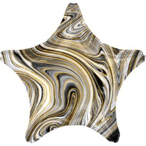 Fekete Csillag Fólia lufi 48 cm