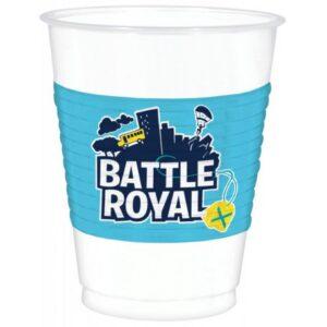 Battle Royal műanyag pohár 8 db-os 473 ml