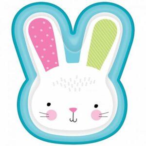 Rabbit, Nyuszi Süteményes Papírtányér 8 db-os 26,6 cm
