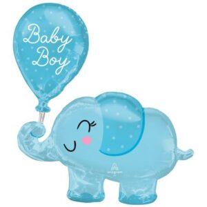 Baby Boy elefánt fólia lufi 78 cm