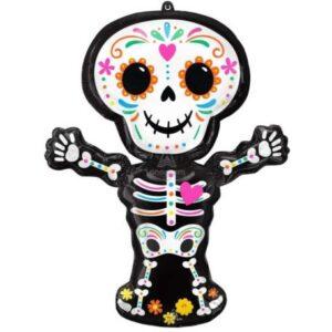 Halloween Day of the Dead fólia lufi 86 cm