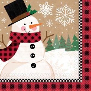 Snowman, Hóember szalvéta 16 db-os 24,7*24,7 cm
