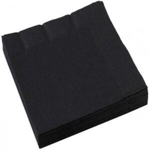 Black Szalvéta 20 db-os, 25*25 cm