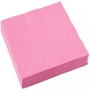 Szalvéta 20 db-os, 25*25 cm New Pink