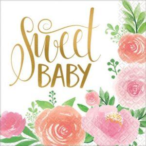 Floral Baby szalvéta 16 db-os 33*33 cm