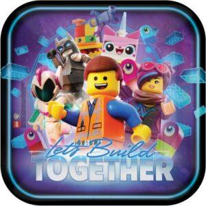 Lego Movie, Lego kaland Papírtányér 8 db-os 23 cm