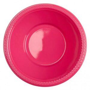 Műanyag mélytányér 10 db-os Magenta