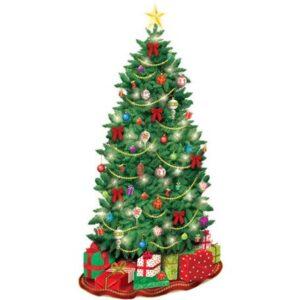 Karácsonyfa Fali dekoráció 165*85 cm