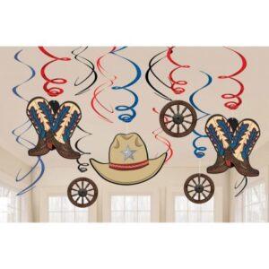 Western Szalag dekoráció 12 db-os szett