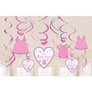 Baby Girl Szalag dekoráció 12 db-os szett