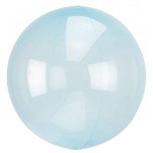 Áttetsző Crystal Gömb Blue Fólia lufi 45 cm