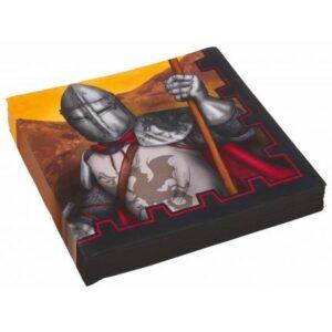 Knights, Lovagok szalvéta 20 db-os, 33*33 cm