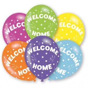 Welcome Home léggömb, lufi 6 db-os