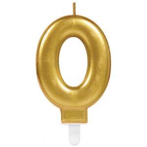 Gold, Arany számgyertya 0-ás tortagyertya