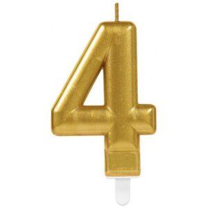 Gold, Arany számgyertya 4-es tortagyertya