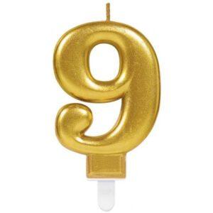 Gold, Arany számgyertya 9-es tortagyertya