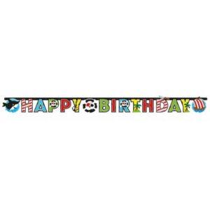 Kalóz Happy Birthday felirat 177 cm