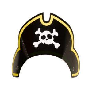 Kalóz party kalap, csákó 8 db-os