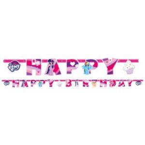 Én kicsi pónim Happy Birthday felirat 237 cm