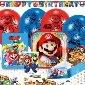 Super Mario party szett 60 db-os