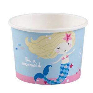 Mermaid, Sellő papír fagyi kehely 8 db-os 270 ml