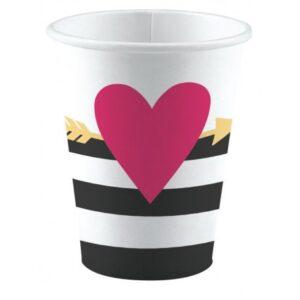 Love papír pohár 8 db-os 250 ml