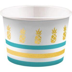 Pineapple, Ananász papír fagyi kehely 8 db-os 270 ml