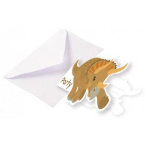 Dinoszaurusz meghívó 8 db-os