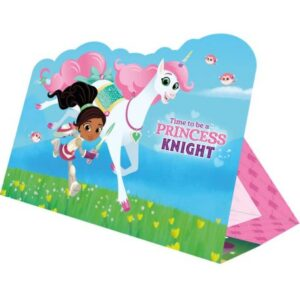 Nella, a hercegnő lovag Party Meghívó 8 db-os