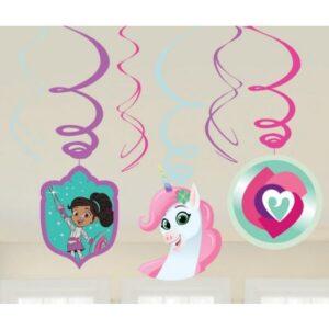Nella, a hercegnő lovag Szalag dekoráció 6 db-os szett