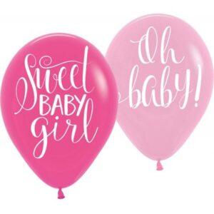 Baby Girl léggömb, lufi 6 db-os