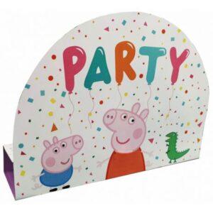 Peppa malac Party Meghívó 8 db-os