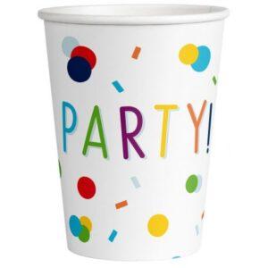 Konfettis papír pohár 8 db-os 250 ml