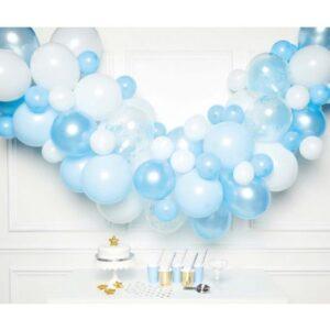 Blue léggömb, lufi girland 70 db-os szett