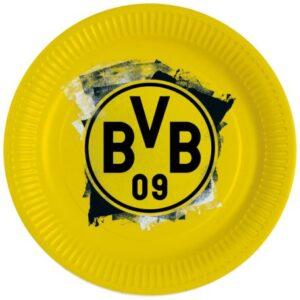 Borussia Dortmund papírtányér 8 db-os 23 cm