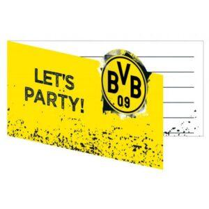 Borussia Dortmund party meghívó 8 db-os